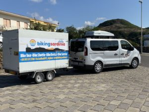 Van support with trailer